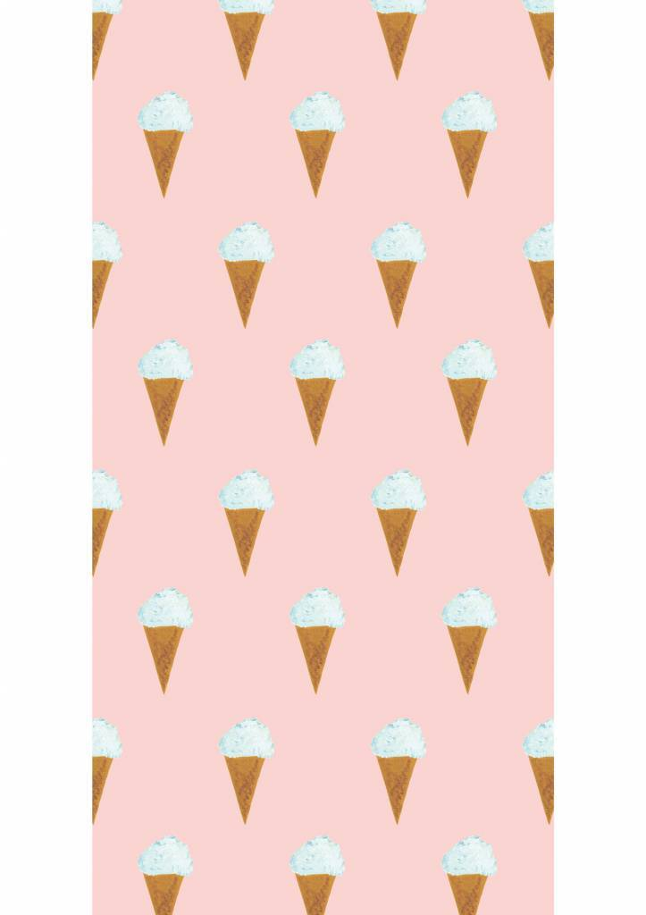 Kek Amsterdam Wallpaper Iceream, pink - Fiep Westendorp