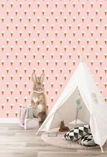 Kek Amsterdam Kinderkamer behang: 'ijsjes', roze - Fiep Westendorp