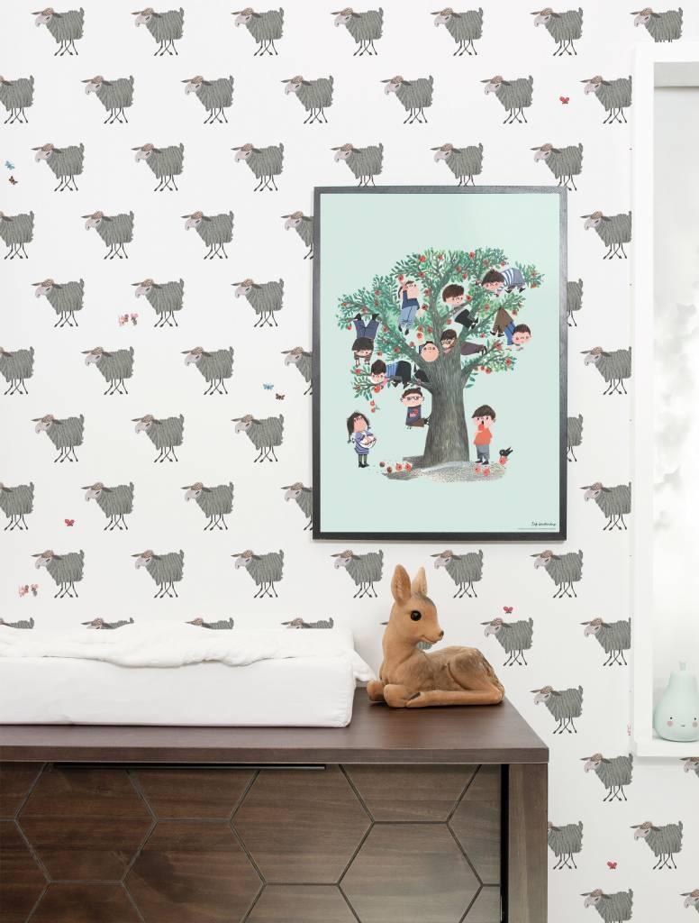 Kek Amsterdam Wallpaper 'Sheep' - Fiep Westendorp