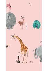 Kek Amsterdam Wallpaper Animals, pink - Fiep Westendorp