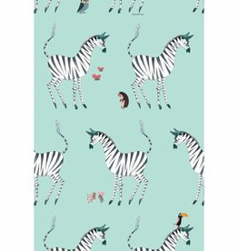 Kek Amsterdam Wallpaper Zebra, mint