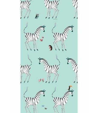 Kek Amsterdam Fiep Westendorp Wallpaper Zebra, mint