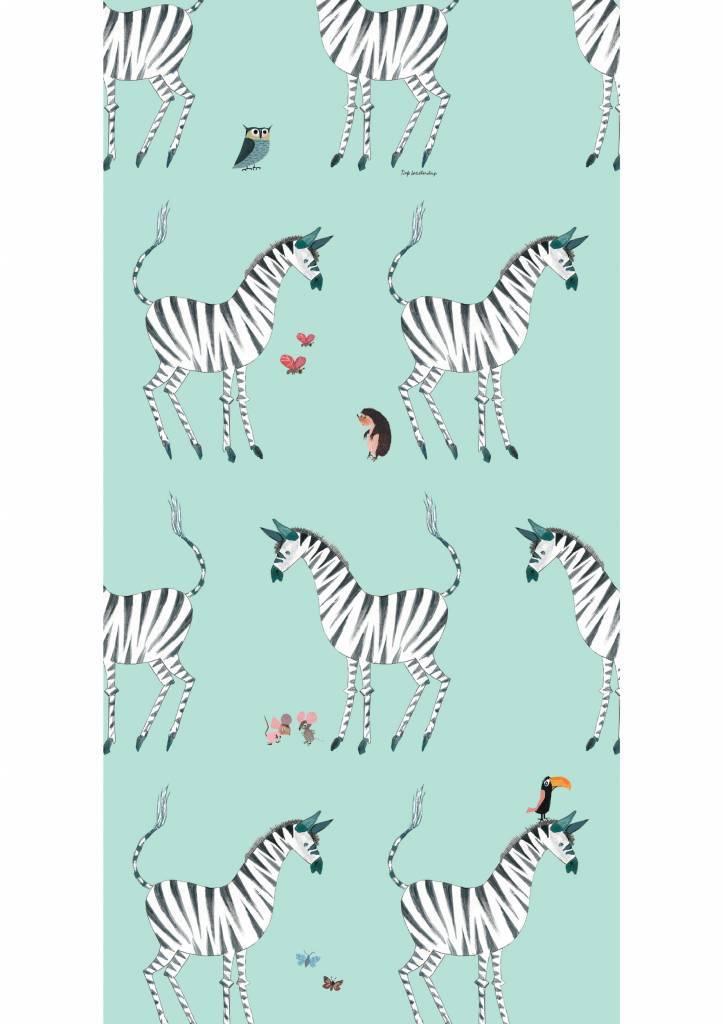 Kek Amsterdam Wallpaper Zebra, mint - Fiep Westendorp