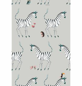 Kek Amsterdam Wallpaper Zebra, gray