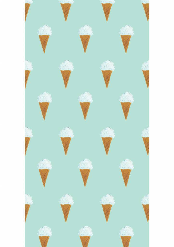 Kek Amsterdam Wallpaper Iceream, mint - Fiep Westendorp