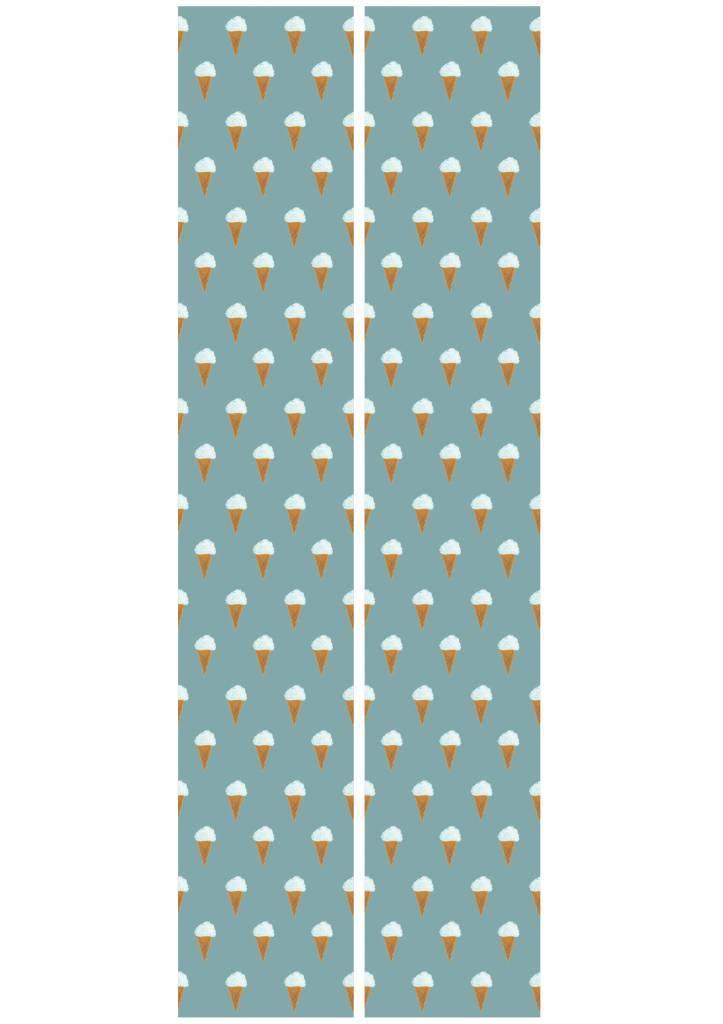 Kek Amsterdam Wallpaper Iceream, petrol - Fiep Westendorp