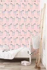 Kek Amsterdam Behang Zebra, roze - Fiep Westendorp