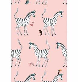 Kek Amsterdam Behang Zebra, roze