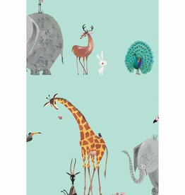 Kek Amsterdam Wallpaper Animals, mint