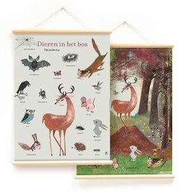 Little & Pure Schoolplaat 'Dieren in het bos' (dubbelzijdig) - Fiep Westendorp