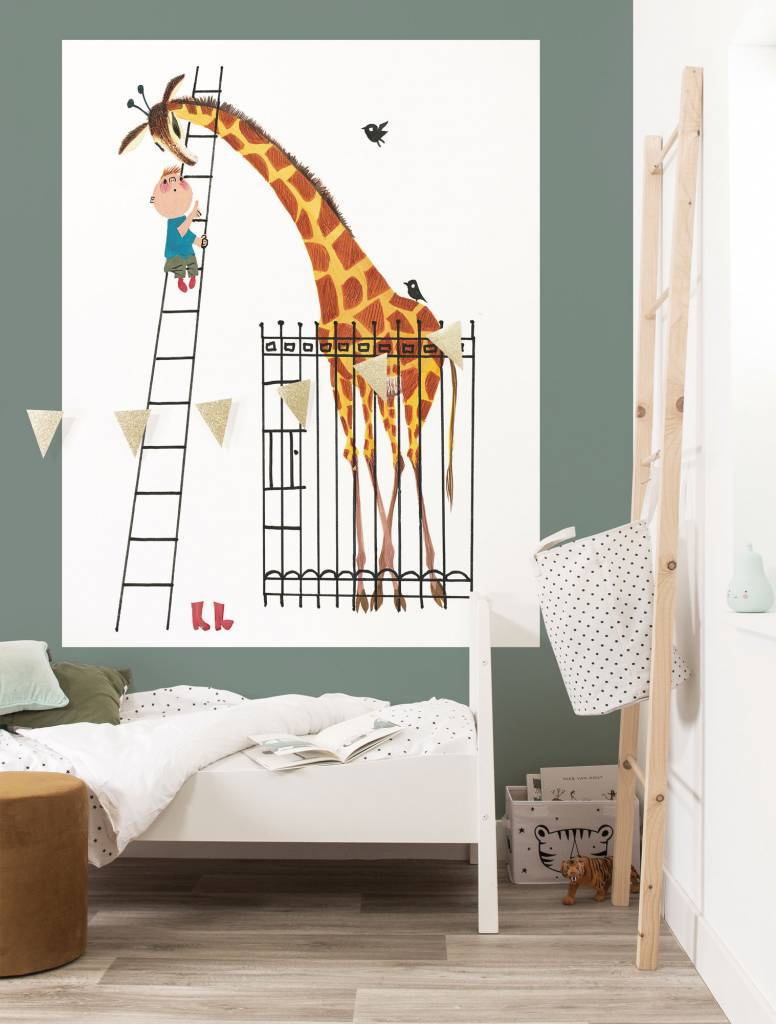 Kek Amsterdam Wallpaper Panel 'Giant Giraffe', 142.5 x 180 cm