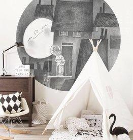 Kek Amsterdam Behangcirkel 'Maanlcht'