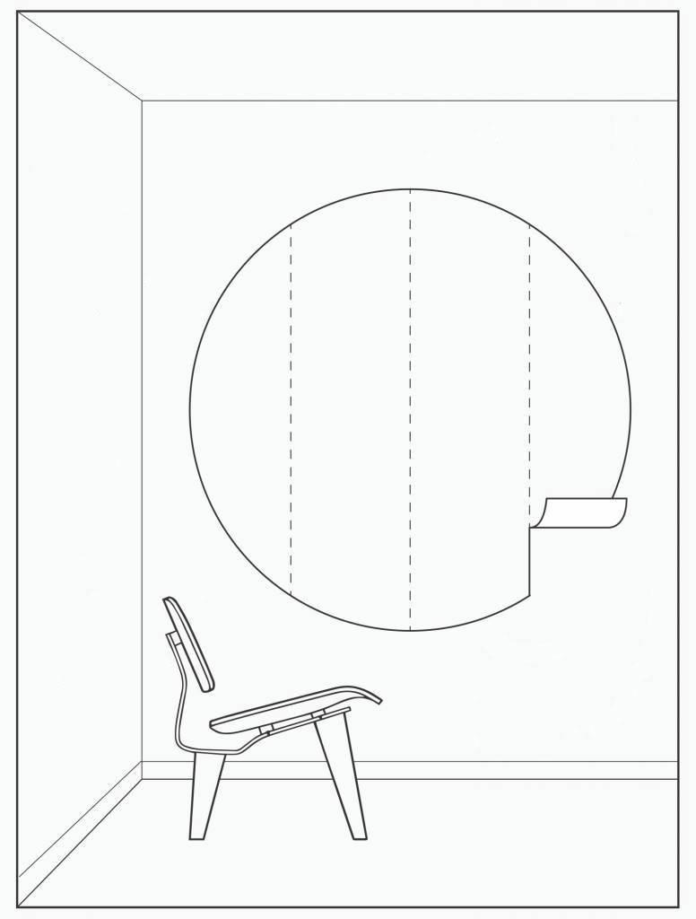 Kek Amsterdam Behangcirkel 'Maanlcht', ø 190 cm