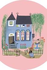 Kek Amsterdam Behangcirkel 'Beer voor het blauwe huis', ø 190 cm