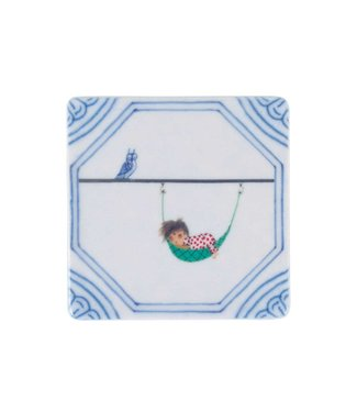 StoryTiles Mini Magnet Tile 'A lazy afternoon' - Fiep Westendorp