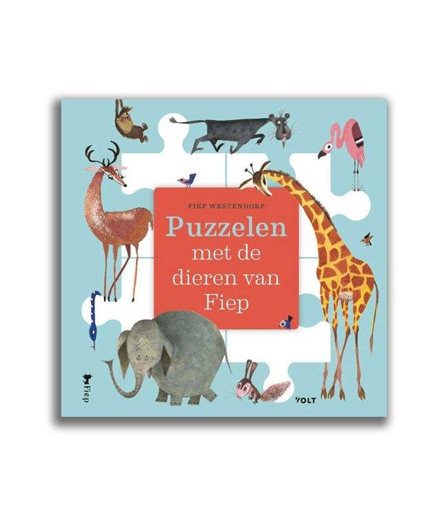 Puzzelen met de dieren van Fiep- kartonnen puzzelboek