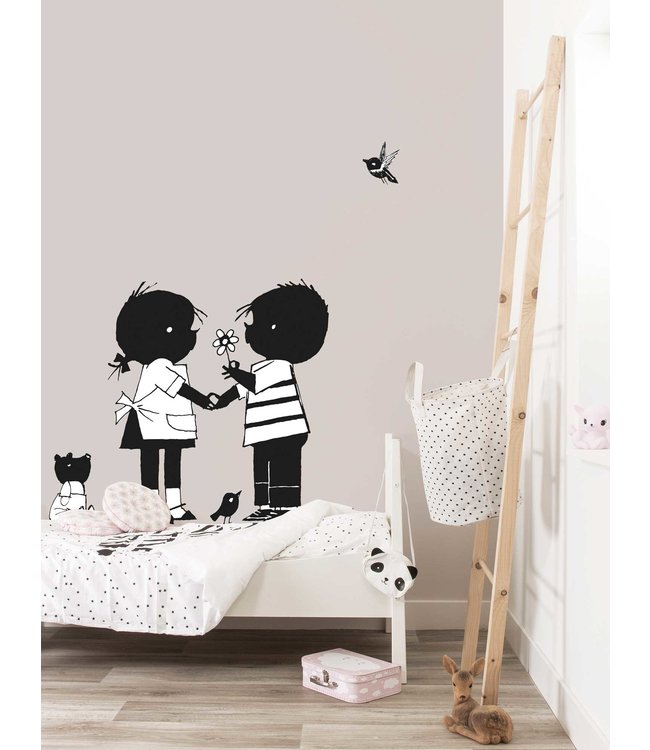 Jip and Janneke wall stickers 'Flower' - Fiep Westendorp