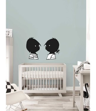Kek Amsterdam Jip and Janneke wall stickers 'Portraits' - Fiep Westendorp
