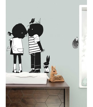 Kek Amsterdam Jip and Janneke wall stickers 'Kiss' - Fiep Westendorp