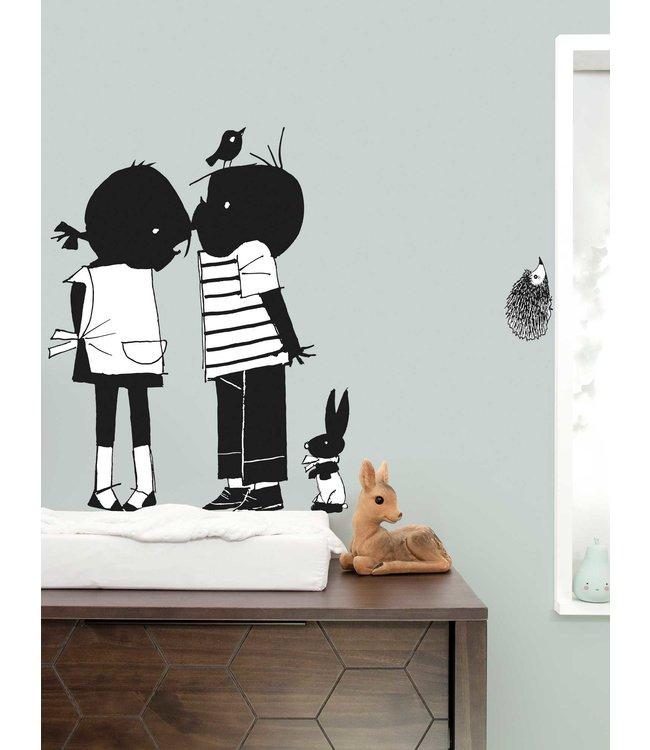 Kek Amsterdam Jip and Janneke wall stickers 'Kiss' - Fiep Westendorp