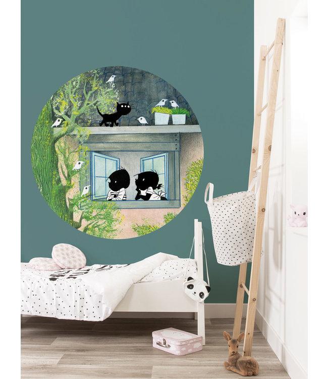 Kek Amsterdam Jip en Janneke behangcirkel 'Vogels' ø 142.5 cm