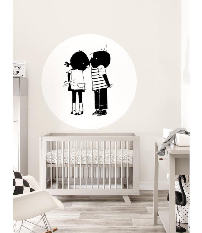 Jip and Janneke Wallpaper Circle, 'Kiss', ø 142,5 cm