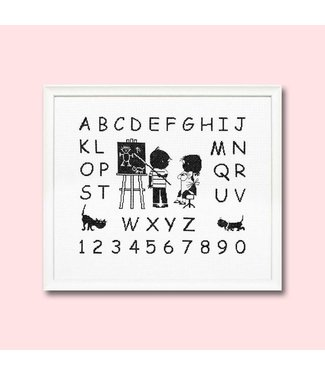 Pako Cross-stitch Set 'Jip & Janneke'   ABC