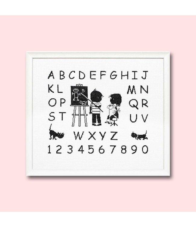 Pako Jip en Janneke borduurpakket:  alfabet - ABC- letterlap