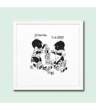 Pako Jip en Janneke borduurpakket - blokken