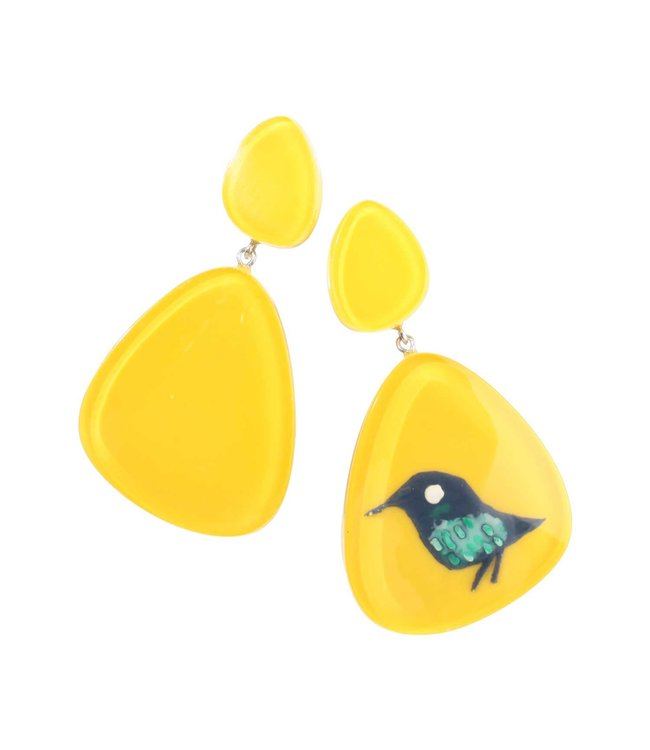 Zsiska Earrings,  'Bird' - Fiep Westendorp - Zsiska