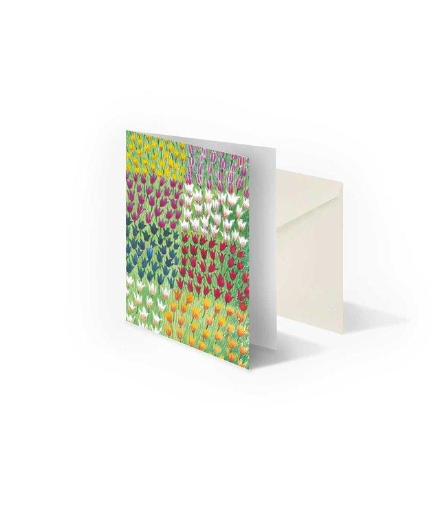 Bekking & Blitz 'Tulip Field' double postcard