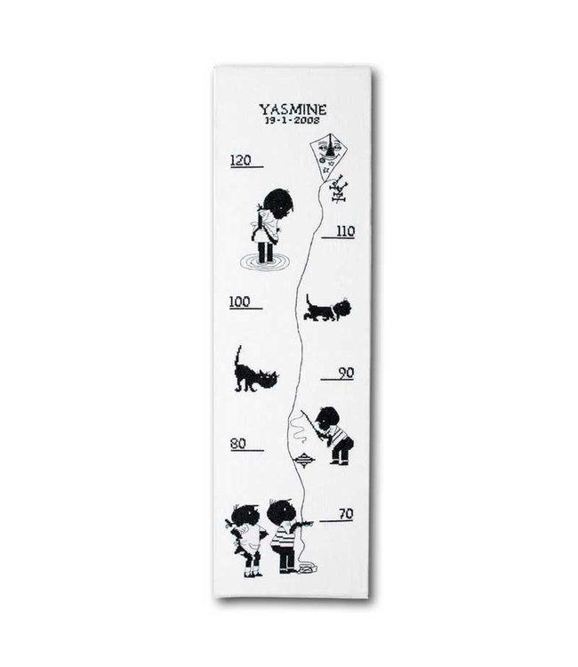 Pako Jip en Janneke - groeimeter, borduurpakket