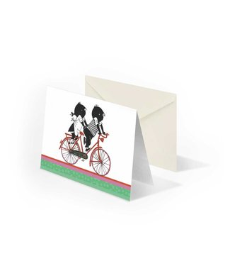 Bekking & Blitz Jip en Janneke op de fiets', gevouwen ansichtkaart