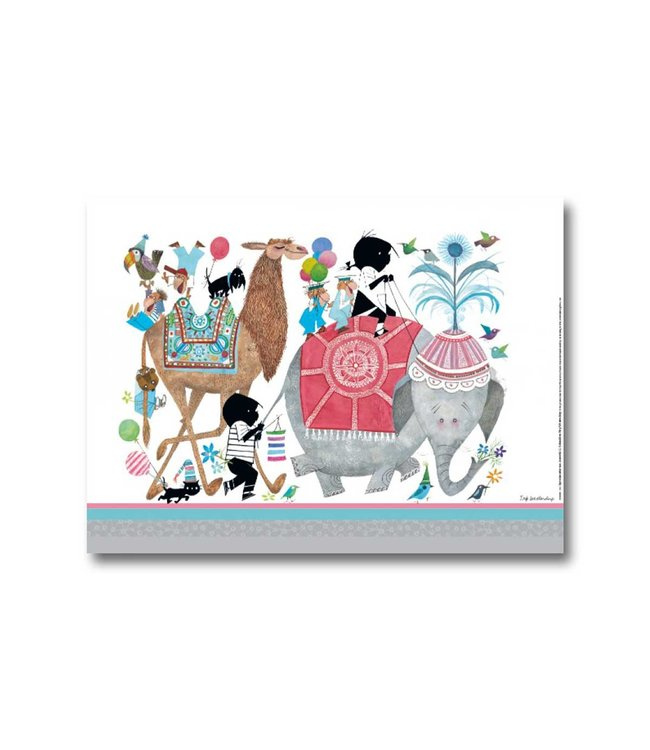 Jip and Janneke poster 'Animal Party' - 30 x 40 cm