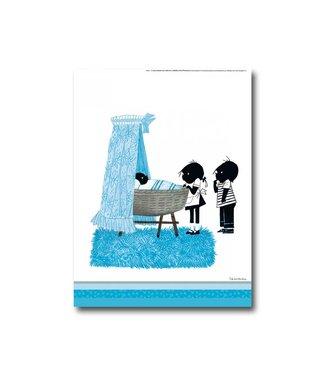 Bekking & Blitz Jip and Janneke poster 'Baby' - blue - 30 x 40 cm