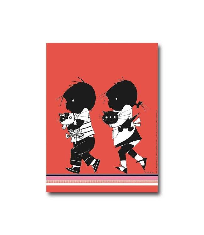 Jip en Janneke poster 'Poezen' - 30 x 40 cm