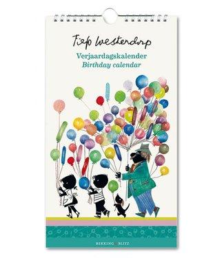 Bekking & Blitz Jip en Janneke met ballonnen Verjaardagskalender  - Fiep Westendorp