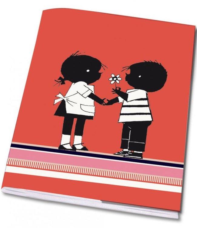 Bekking & Blitz Notebook A5 'Jip and Janneke with flower'