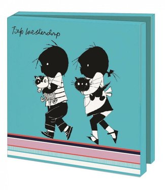 Bekking & Blitz Jip en Janneke (Zwart/wit) - set van 10 kaarten