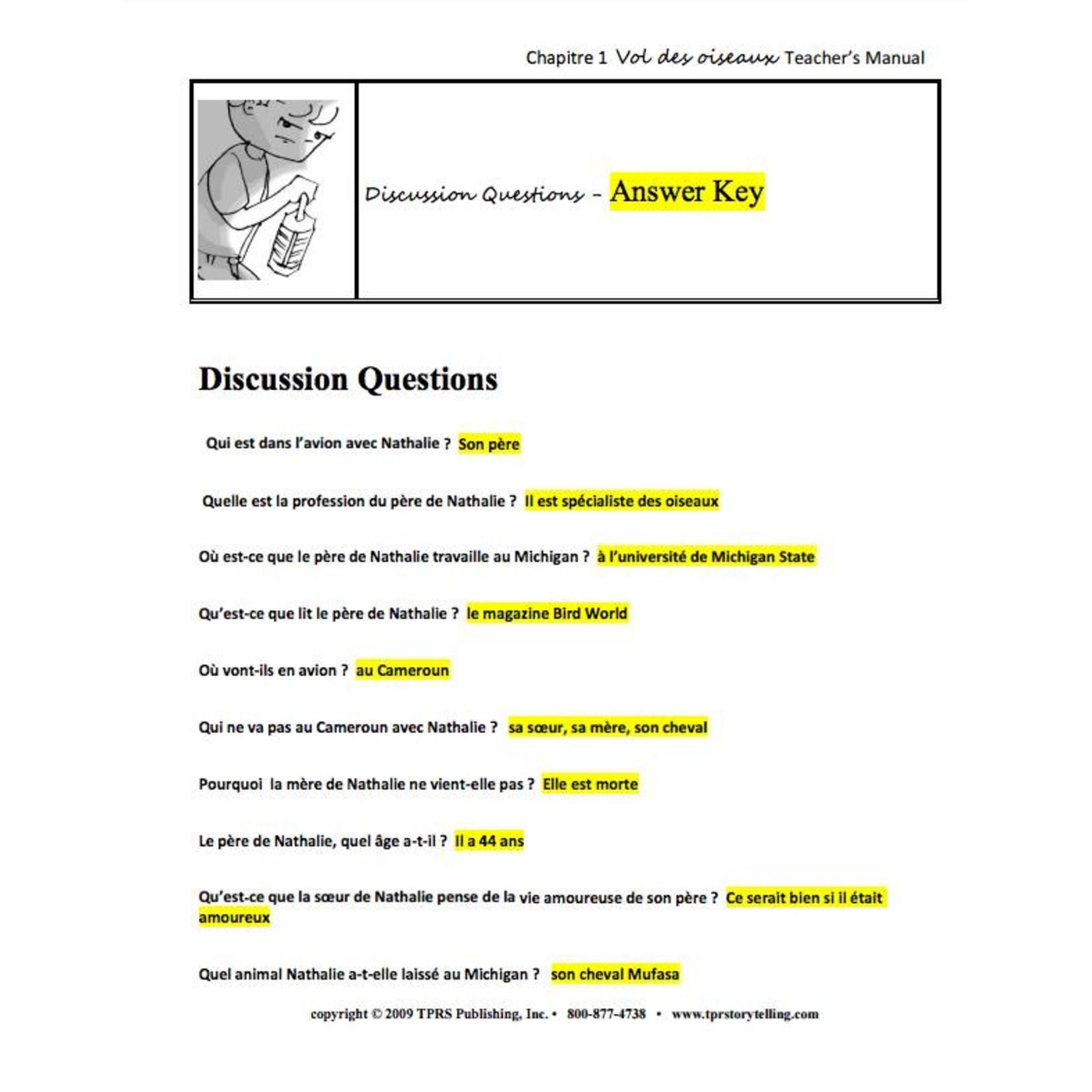 Fluency Matters Le vol des oiseaux - Docentenhandleiding