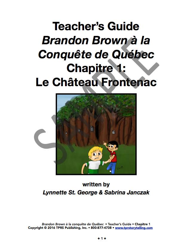 Brandon Brown à la conquête de Québec  - Teacher's Guide on CD