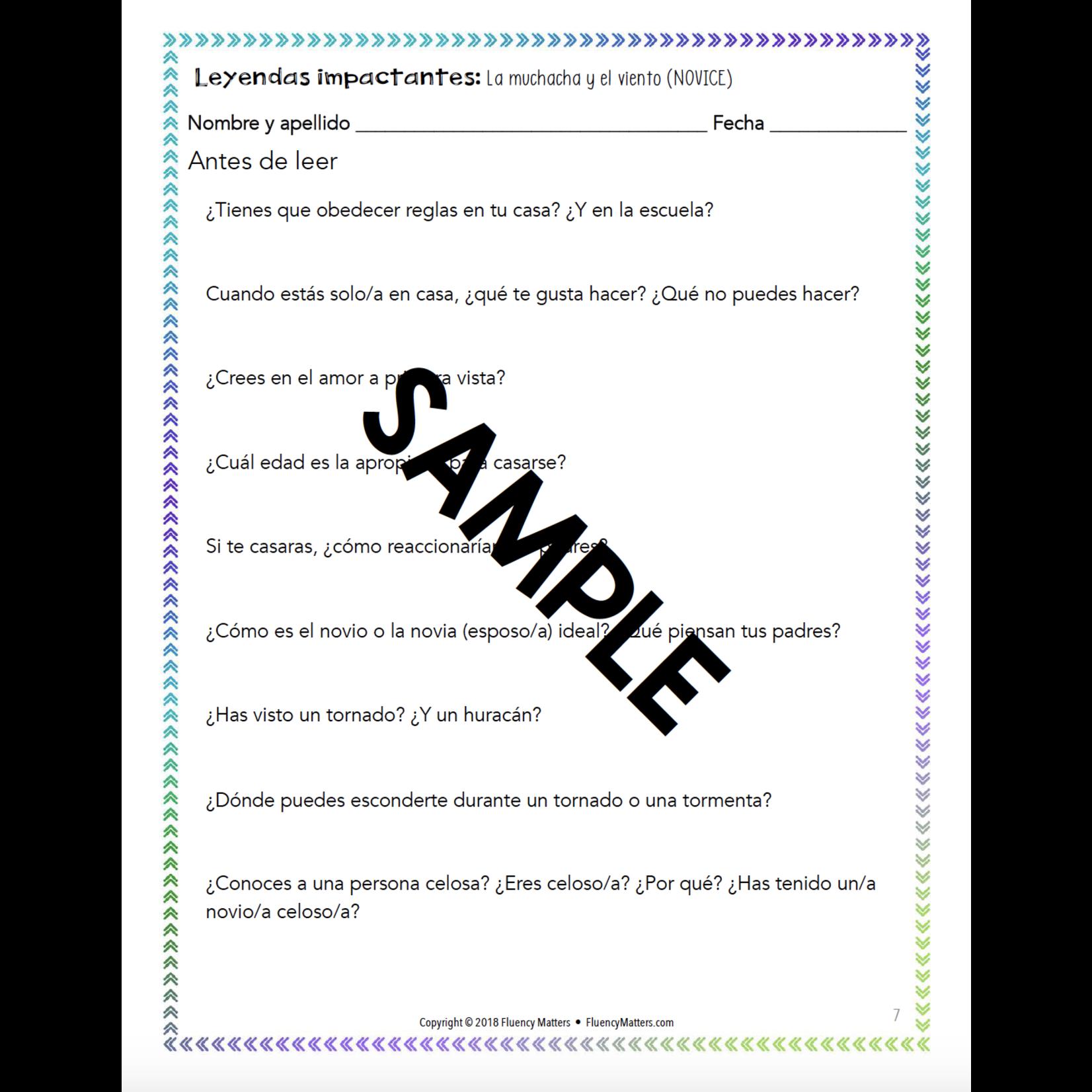 Fluency Matters Leyendas impactantes - Teacher's Guide
