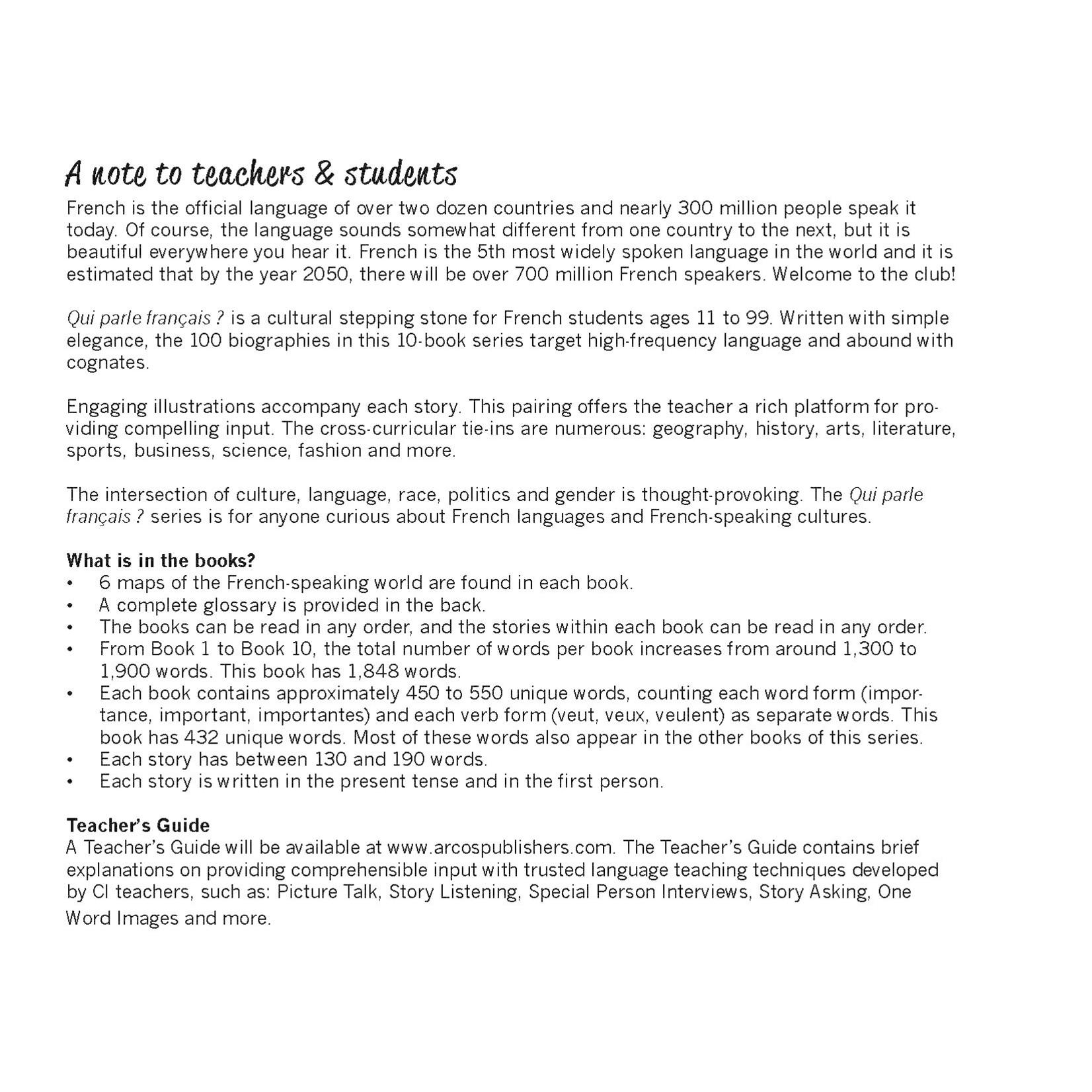 Arcos Publishers Qui parle français ? (Frans-Engels) - Livre 9