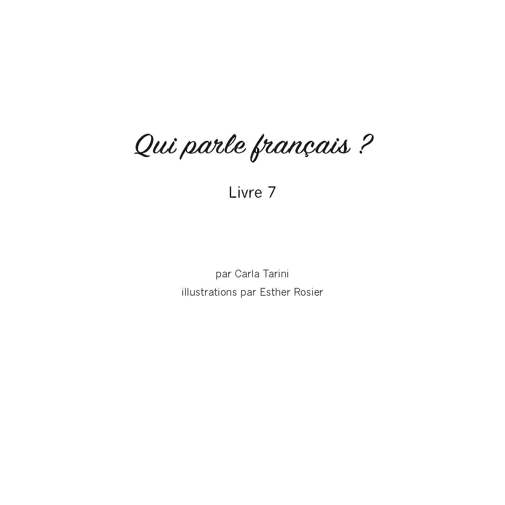 Qui parle français ? - Livre 7