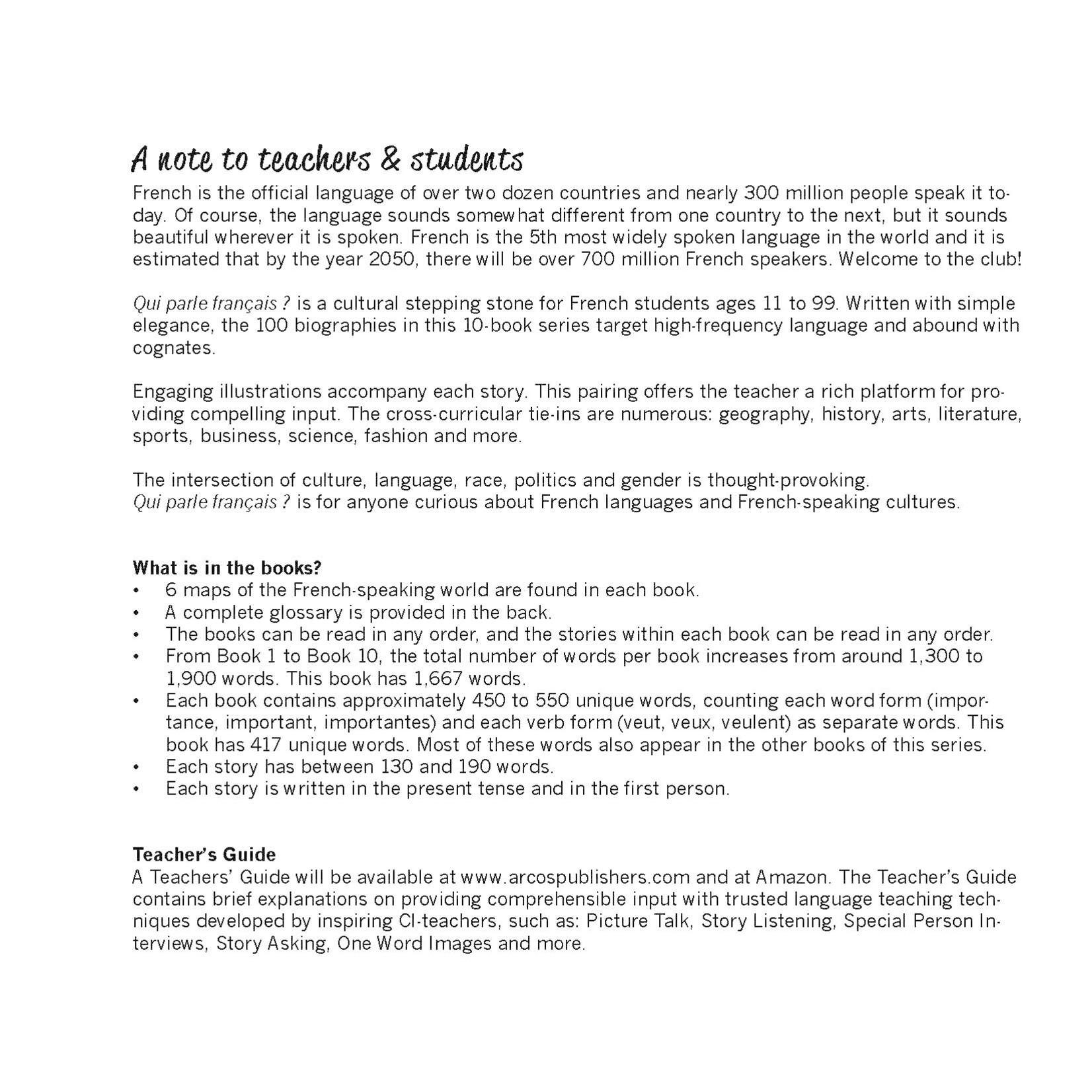 Arcos Publishers Qui parle français ? - Livre 4