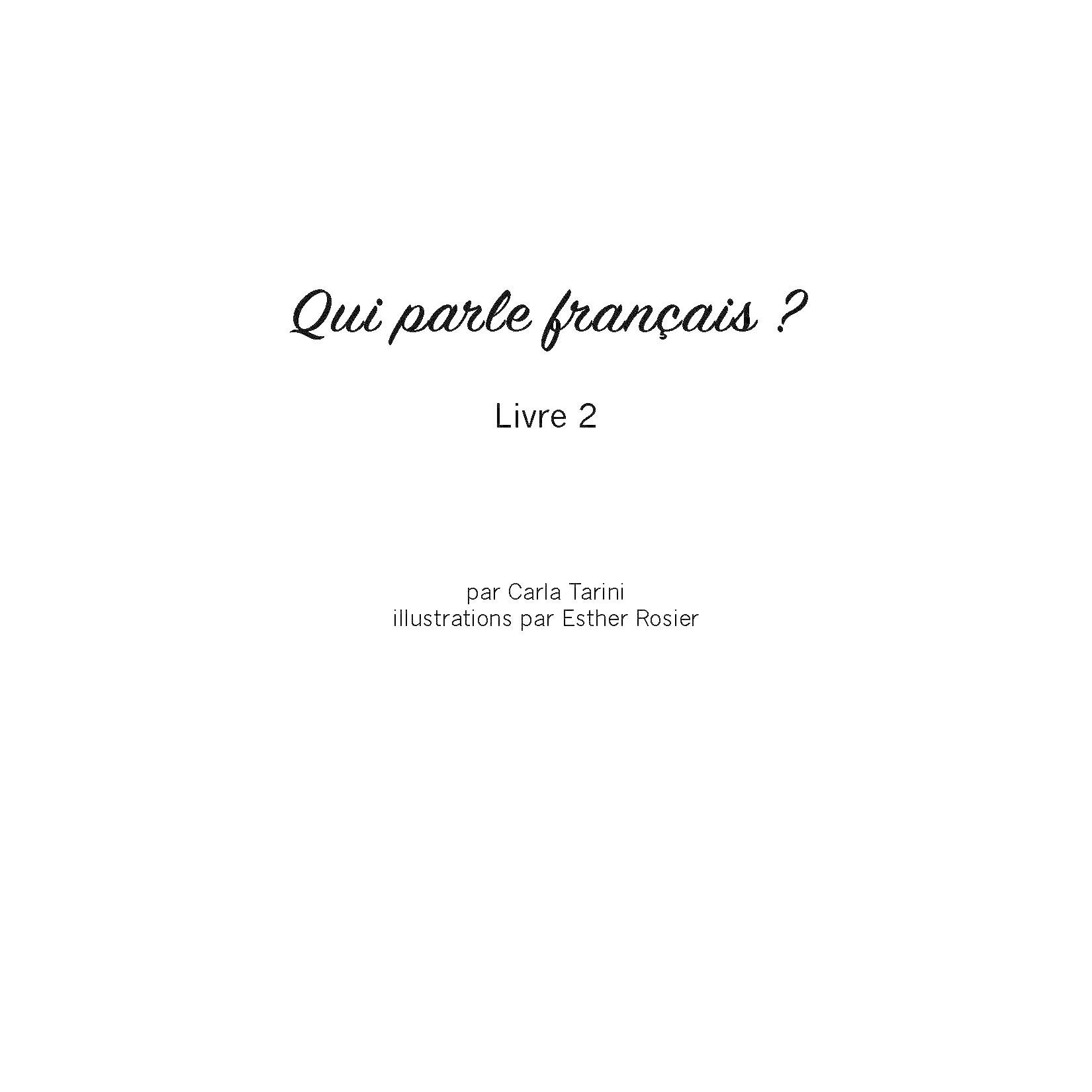 Qui parle français ? - Livre 2