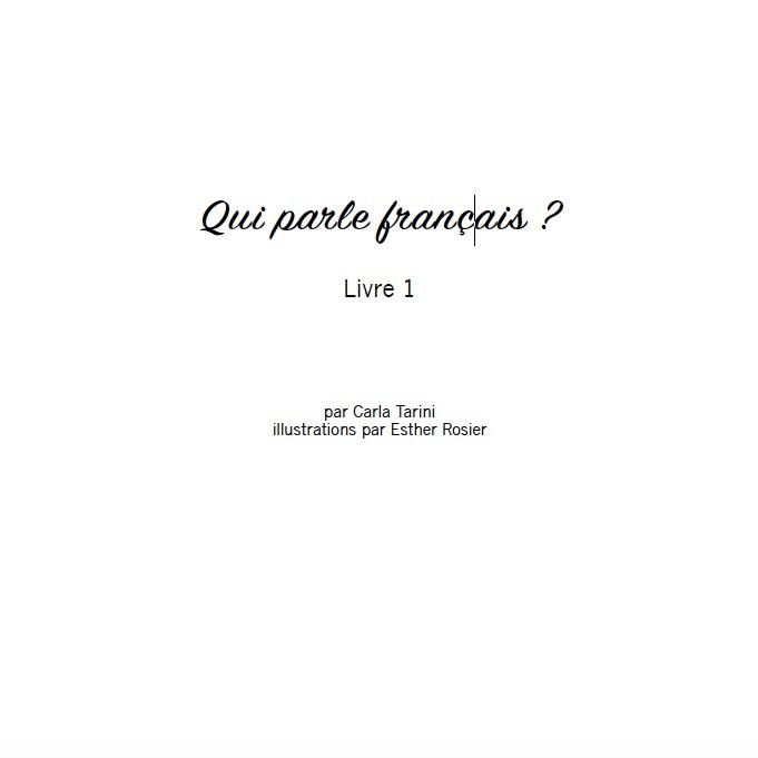 Qui parle français ? (Frans-Engels) - Livre 1