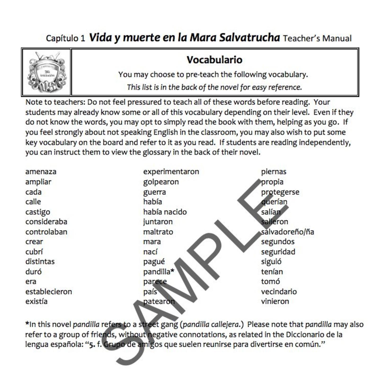 Fluency Matters Vida y muerte en la Mara Salvatrucha - Docentenhandleiding
