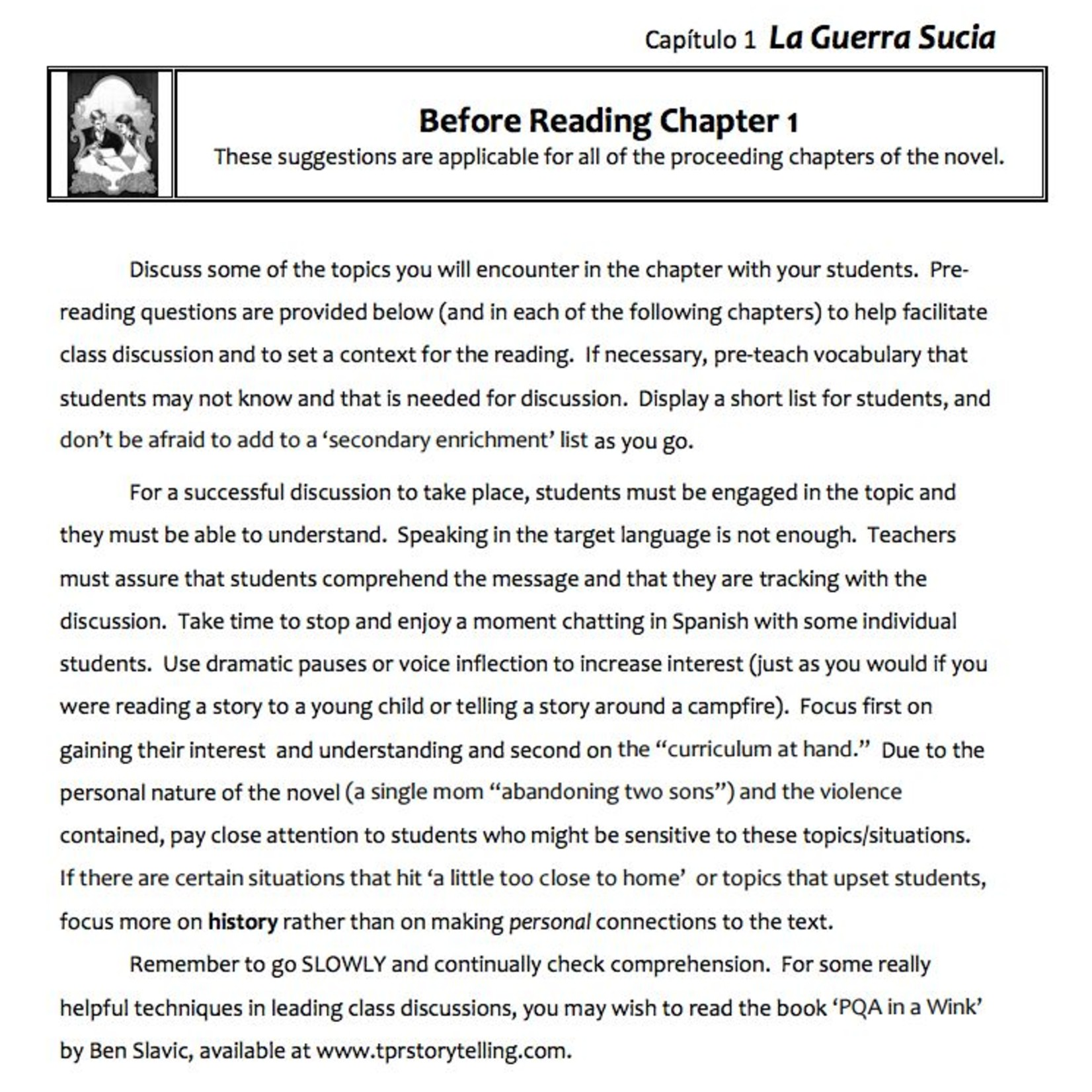 Fluency Matters La Guerra Sucia - Docentenhandleiding