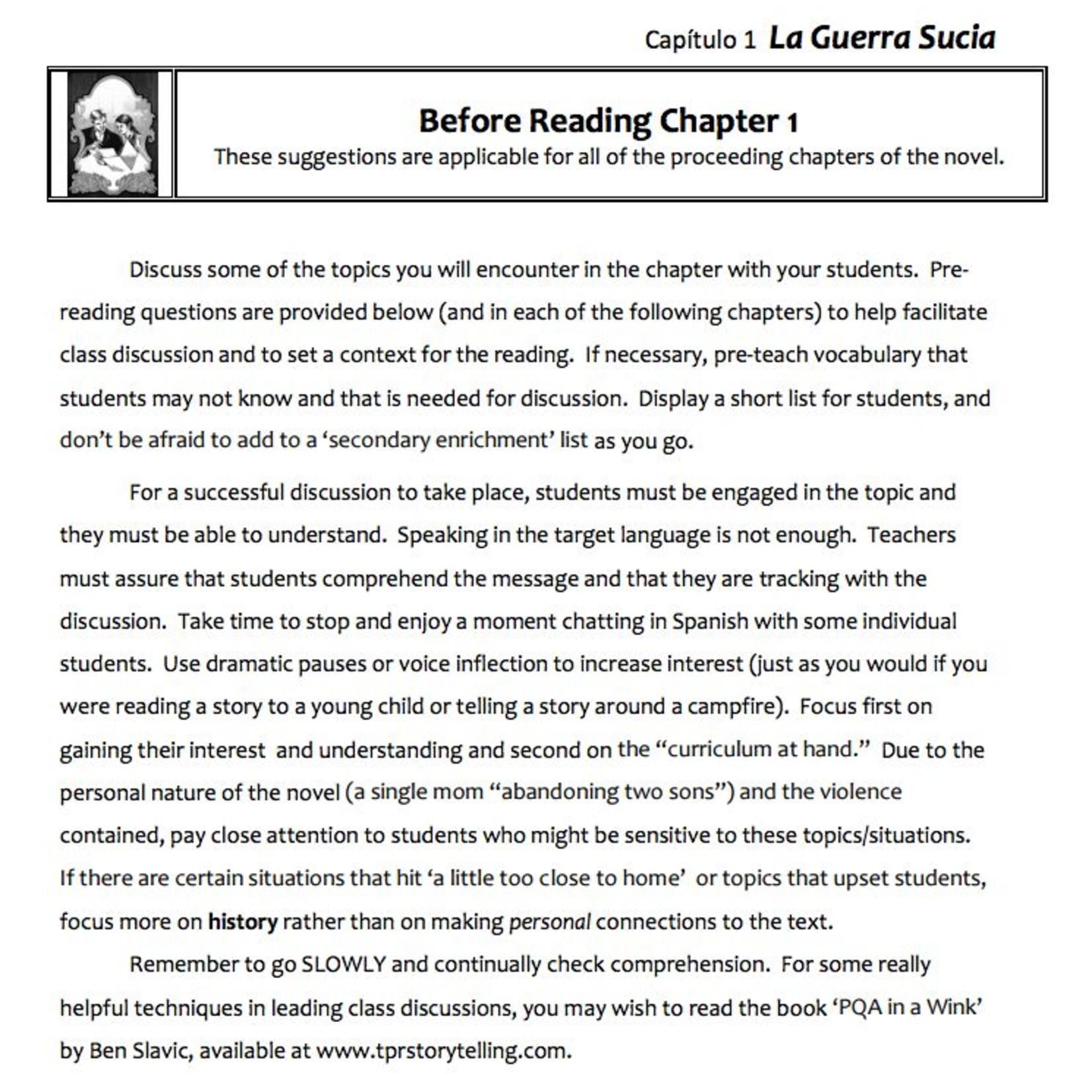 Fluency Matters La Guerra Sucia - Teacher's Guide on CD
